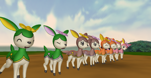 MMD Newcomer Deerling All Forms + DL by Valforwing