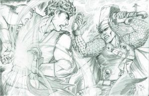 Ryu vs Thor Marvel VS Capcom 3 by alfred183