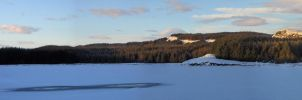 Jaw Reservoir Frozen Over: Third View by yaschaeffer