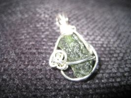 Moldavite Pendent by DivisionK