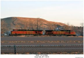 BNSF 7707 + 5266 by hunter1828