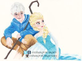 Jelsa (Jack Frost and Elsa) by Sharsel