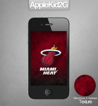 Miami Heat iPhone Wallpaper by TevinFields