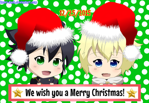 Mika and Yuu -We Wish You A Merry Christmas!- by kaori-dash