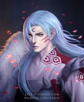 Sesshomaru, portrait of a demon lord by luffie