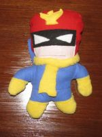 Captain Falcon Plushie by Bleu-Ninja