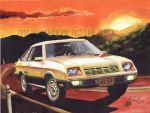 1980 Plymouth Horizon TC3 Painting by FastLaneIllustration