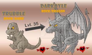 Trubble and Darkoyle - Gargoyle Fakemon by JamalPokemon
