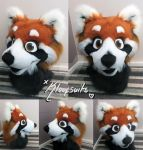 RED PANDA FURSUIT HEAD FOR SALE by Kloofcat