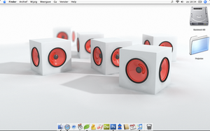 Six Pimped Cubes on my MacBook by nlife