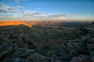 Sunset over Canyon by luethy