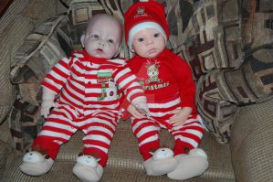 Reborn Baby Henry and Winifred by witchiewen