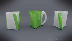 Twisted mug design concept by koleos33