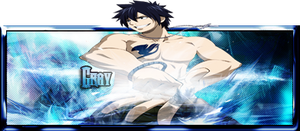 Fairy Tail - Gray Fullbuster Pop-out Signature by lolSmokey