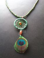 4 elements - Earth dreamcatcher necklace by Vision4LifeCro