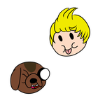 Boney The Dog and Lucas the Human by luxiavideogamer11