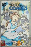 Belle and Sheep Comic Sketchcover by DaphneLage