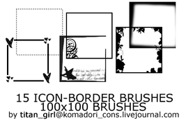 15 Icon Borders Brushes by titan-girl