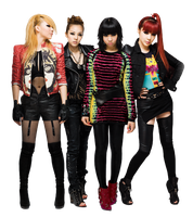 2NE1 Render O3 by AbouthRandyOrton