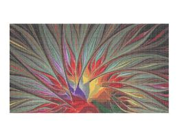 Fractal Bird of Paradise Cross-Stitch Pattern by wolfepaw