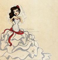 Wedding dress by kinkei