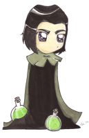 HP Watercolors- Snape by gryffindor-girl