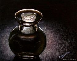 Glass Vase and Candle by sidneyeileen
