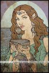 Queen of Cups - colouredsketch by Monica-NG