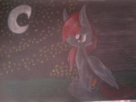 Painbrush and Night by troublemaker1230