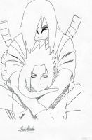 Sasuke and Orochimaru by Kiranaomipartners