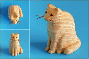 Little cat statue by Bozar88