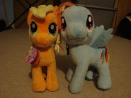 Dashie and Apple Jack plushy by spidyphan2