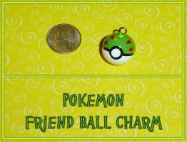 Pokemon - Friend Ball Charm by YellerCrakka