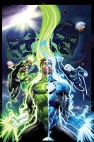 Green Lantern cover 41 by eddybarrows