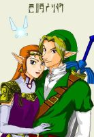 Princess Zelda and Link by girl2004
