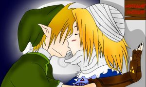 Sheik and Link Love by WensX