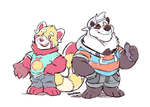 Two Lil' pandas by super-tuler
