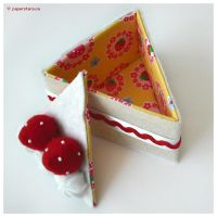 Strawberry Cake Slice by littlepaperforest