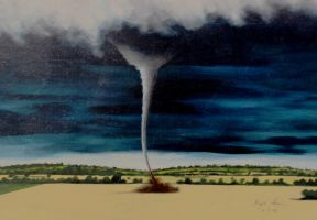 Twister over the Kansas Plains, 1996. by artshay
