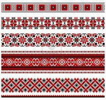 Illustrations of Ukrainian embroidery-patterns by moumita28