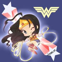 wonder woman anime style by keitenstudio