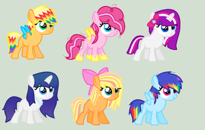 Mane Six Shipping Adopts (CLOSED) by iVui