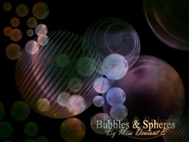 Bubbles spheres Photoshop Brushes by Miss-deviantE