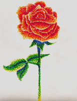 Stipple Rose by miyumicat