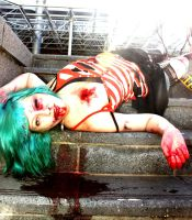 Blue Haired Zombie by WednesdayFades