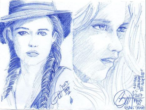 minidrawing Teresa Palmer by ethan-gmt