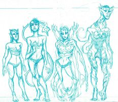 FEMALE OSCURANS (pencil sketch) by theCEOofDEATH