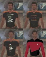More of Carth's t-shirts by Anglu