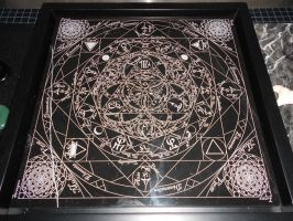 Samael's Seal - 12inch - Black Marble - Framed by EloquentiaSerpentis