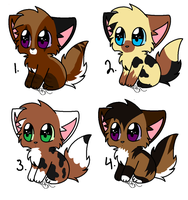 Chibi Free kitten breedables by leafstep
